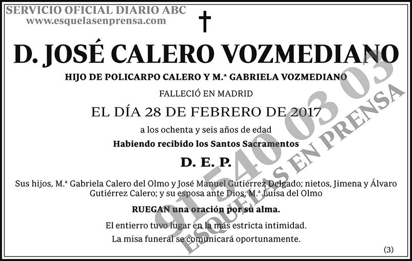 José Calero Vozmediano